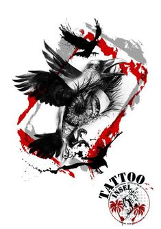 trash polka designs - Google Search Red Tattoos, Body Art Tattoos, Sleeve Tattoos, Tatoos, Skull Tattoos, Simbolos Tattoo, Raven Tattoo, Big Tattoo, Black Red Tattoo