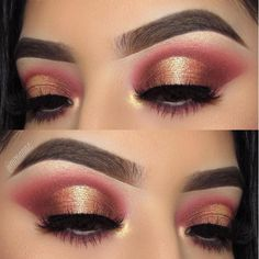make up Gold und Burgunder Scalp Eczema 3 Scalp Eczema 3 If you Gold Makeup Looks, Gold Eye Makeup, Prom Makeup Looks, Eye Makeup Art, Makeup For Brown Eyes, Nice Makeup, Easy Makeup, Burgundy Eyeshadow Looks, Makeup For Burgundy Dress