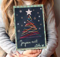 Carte de Noël Sapin à tisser | Jouonsensemble.fr