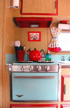See how one couple amped up the adorable factor on their 1970s camper trailer. #vintagetraveltrailers