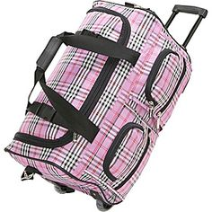 "Rockland Luggage 22"" Rolling Duffle Bag - Pink Cross - via eBags.com!"