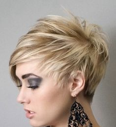 asymmetrical short cut. Super cute never could get myself to do it