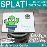 SPLAT! Identifying Coins and Their Values Math Center- U.S