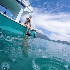• about to take ze plunge • #snorkeling #seychelles #honeymoon #travelMEMO #luxwt #luxuryworldtraveler