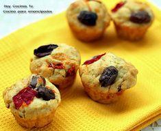 Hoy Cocinas Tú: Mini magdalenas saladas de pimiento, aceitunas y queso