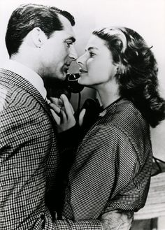 "Cary Grant & Ingrid Bergman ~ Alfred Hitchcock's ""Notorious"" 1946"