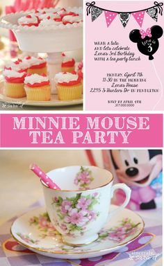 Minnie Mouse Tea Party Ideas - such a fun birthday party theme idea for kids!