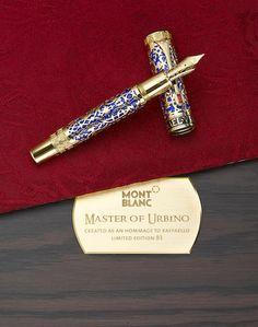 MONTBLANC: Master of Urbino [Raphael Sanzio da Urbino] 18K Solid Gold Atelier Privés Limited Edition 83 Filigree Fountain Pen