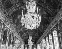 Palace of Versailles, Hall of Mirrors, Black and White Photograph Print, France Travel Photography by Tiffany Dawn Photography - Find me on Instagram & Facebook! @TiffanyDawnPhotography