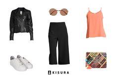 KISURA OUTFITS // Details from today's look // #KISURA #AboutKISURA #KISURAoutfits #fashion #stye #inspiration #startup #personalstylist #culottes #sneakers #glasses #clutch #orange #black