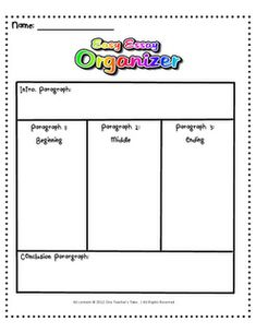 free graphic organizers for writing 5 paragraph essays