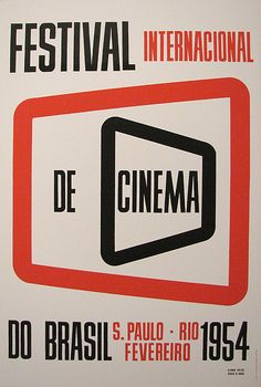 Poster designed by Alexandre Wollner and Geraldo de Barros for one of the first editions of the International Film Festival of Brazil