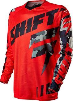 2015 Shift Faction Camo Motocross Dirtbike MX ATV Riding Gear Adult Mens Jersey #Shift BRANDON