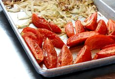 Roasted fennel and tomatoes