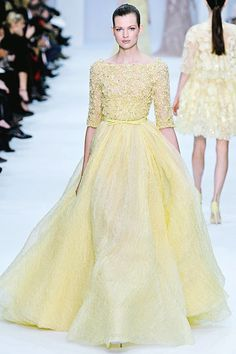 Elie Saab Spring 2012 Couture (this would be magical in white as a wedding dress IMO)