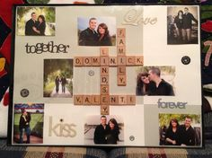 Scrabble piece frame!