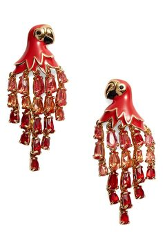 These pretty Polly earrings from Kate Spade are designed to dress up any warm-weather look with a playful cascade of feather-like crystals.