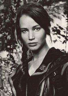 """Okay, okay. So Katniss isn't technically """"real."""" Still love her tho. & really, how beautiful is she?!"""