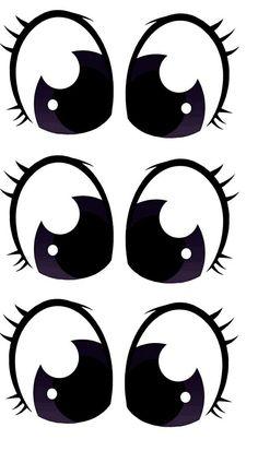 Doll Eyes, Doll Face, Pots D'argile, Moldes Halloween, Face Stencils, Flower Pot People, Color Me Mine, Painted Clay Pots, Cartoon Eyes
