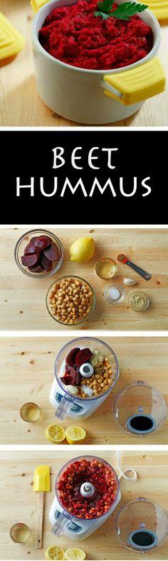 Beet Hummus with simple ingredients! ad
