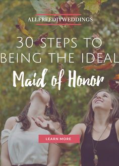 This guide is a lifesaver if you've been asked to be the Maid of Honor.