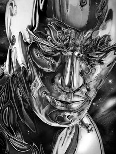 Silver Surfer by Pencil Artist Cory Smith Marvel Comics Art, Marvel Comic Books, Comic Book Characters, Comic Book Heroes, Marvel Heroes, Marvel Characters, Comic Character, Comic Books Art, Captain Marvel