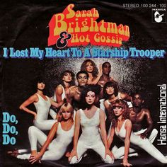 From 30 Weird, Ridiculous, and/or Crappy Scifi Album Covers--Sarah Brightman's I Lost My Heart to a Starship Trooper.