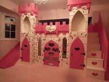princess castle bed, girls bed, princess bed, Cinderella, bed with slide