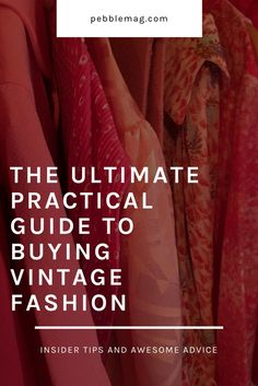 How to really shop for vintage fashion. Click for plenty of practical tips.