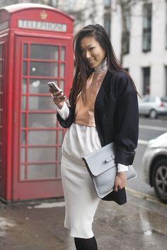 altamiranyc: Lillian He Cute style Models Off Duty, Modest Fashion, Work Wear, Street Style, Street Chic, Girly, Style Inspiration, Beauty, Streetwear