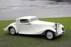 1933 Delage D8S DeVillars Coupe Roadster.