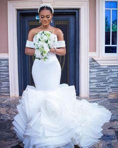 Summer Wedding, Dream Wedding, Bride Dresses, Wedding Dresses, Organza Bridal, Royal Blue Prom Dresses, Japanese Wedding, Black Bride, Lace Mermaid