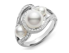 Reis-Nichols Jewelers : Mikimoto Laguna Akoya Pearl And Diamond Ring