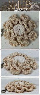 ISA'sART: MAILLES - CROCHET 3D étude fleur