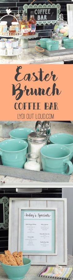 What a fun idea! A coffee drink menu with all of the ingredients for guests to make their own coffee house style drink!