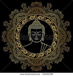 Find Buddha Head Round Mandala Decoration Gold stock images in HD and millions of other royalty-free stock photos, illustrations and vectors in the Shutterstock collection. Thousands of new, high-quality pictures added every day. Buddha Drawing, Buddha Wall Art, Buddha Painting, Dot Painting, Buddha Head, Buddhist Symbol Tattoos, Buddhist Symbols, Hindu Tattoos, Buddha Tattoos