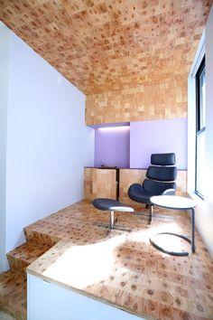 Futuristische Büro Einrichtung mit Metall 3D-Wandpaneelen ...