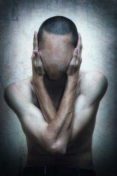 """Face/Off"" (2012), by Nikita Malyshkin. Photo manipulation."