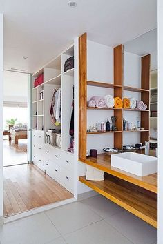 Town House by MM++ Architects - love this vanity/closet design! Modern Family, Home And Family, Interior And Exterior, Interior Design, Interior Ideas, Traditional Dining Rooms, Modern Tropical, Ho Chi Minh City, My Dream Home