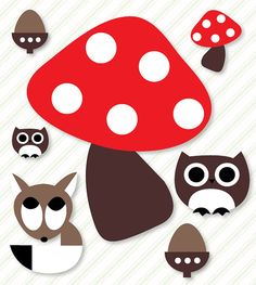 Woodland Birthday Party PRINTABLE Mushroom Creature by lovetheday,