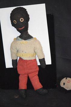 Old Doll Black Cloth Unusual