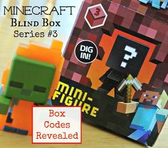 My son loves the new Minecraft Blind Box Series 3 Netherrack toys. The Minecraft Blind Box Series 3 is the Netherrack series and it includes Diamond Steve, Squid. Minecraft Toys For Kids, Minecraft Box, The New Minecraft, Minecraft Party, Toys For Boys, Gifts For Boys, Kids Toys, Best Christmas Toys, Practical Gifts