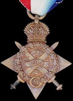 British World War I: 1914 Mons Star. The majority of recipients were officers and men of the pre-war British army, specifically the British Expeditionary Force (the Old Contemptibles), who landed in France soon after the outbreak of the War and who took part in the Retreat from Mons (hence the nickname 'Mons Star'). 365,622 were awarded in total.