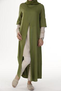 Yeni Sezon Elbise- Yeşil - 50590