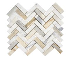 Calacatta Gold (Calcutta) Italian Marble 1 X 3 Herringbone Mosaic Tile - Honed - Maidstone Lane - Backsplash Calcutta Marble Kitchen, Calcutta Gold Marble, Calacatta Tile, Herringbone Backsplash, Marble Tile Backsplash, Wall Tile, Italian Marble, Marble Mosaic, Grey Mosaic Tiles