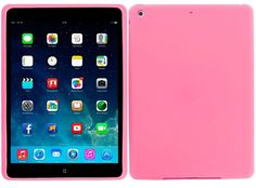 """Amazon.com: Taffy Pink {Matte Modern Plain} Soft and Smooth Silicone Cute 3D Fitted Bumper Back Cover Gel Case for iPad Mini 1, 2 and 3 by Apple """"Durable and Slim Flexible Fashion Cover with Amazing Design"""": Computers & Accessories"""