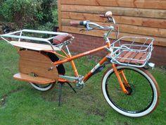 Sweet Custom Tangerine Yuba Mundo Cargo Bike. Visit the slowottawa.ca boards:  http://www.pinterest.com/slowottawa/