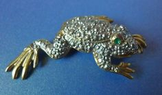 Fashion jewelry bijouterie UK ? Brooch Pin Frog Silver & Gold tone color #Unbranded
