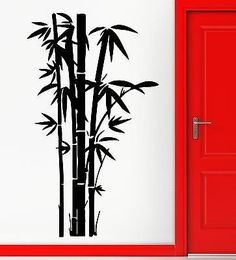 Items similar to Wall Stickers Vinyl Decal Bamboo Plant Relax Cool Living Room Decor on Etsy Bamboo Art, Bamboo Plants, Vinyl Wall Decals, Wall Stickers, Sticker Vinyl, Vinyl Art, Japanese Wall, Tree Stencil, Lucky Bamboo