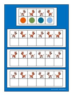 Board for the dog visual perception game. Find the belonging tiles on… Dyslexia Activities, Preschool Learning Activities, Preschool Printables, Brain Activities, Preschool Math, Therapy Activities, Fun Math, Visual Perception Activities, Visual Memory